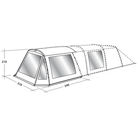 Easy Camp Awning Tentaccessoires textiel Palmdale 500 grijs/wit